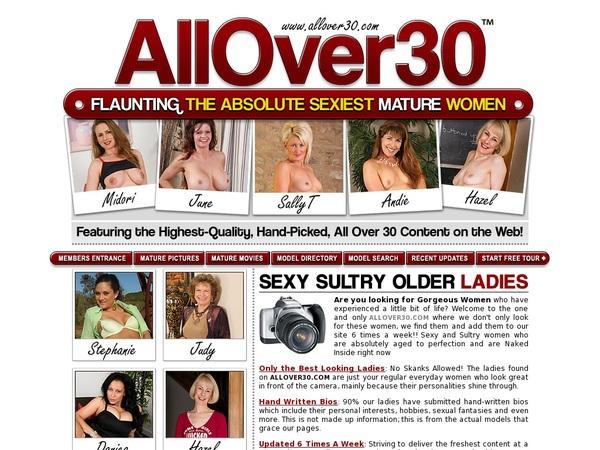 All Over 30 Original 로그인