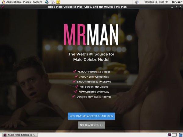 Mr Man Order Page