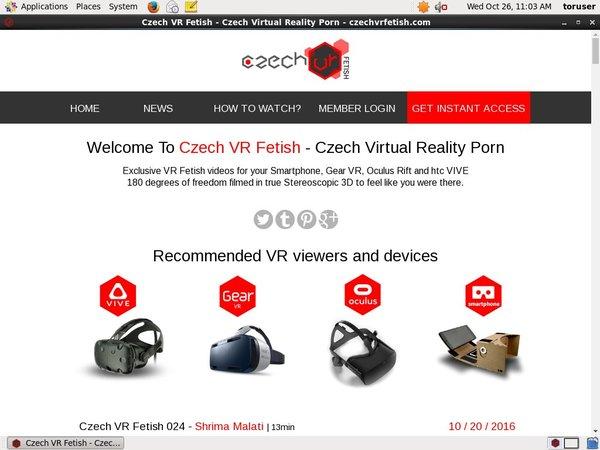 Czech VR Fetish Account Information